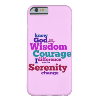 Serenity Prayer wordle Barely There iPhone 6 Case