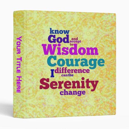 Serenity Prayer wordle binder