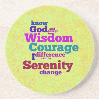 Serenity Prayer wordle coaster