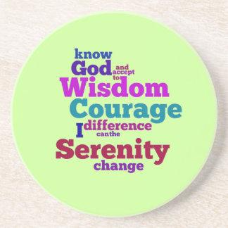 Serenity Prayer wordle Coaster