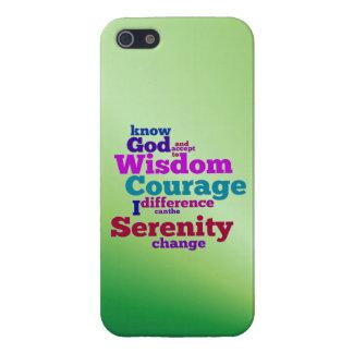 Serenity Prayer wordle iPhone 5 case