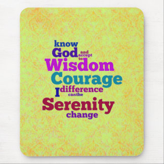 Serenity Prayer wordle mousepad