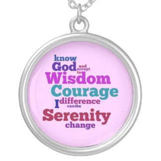 Serenity Prayer wordle necklace