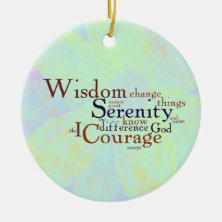 Serenity Prayer Wordle on abstract Ceramic Ornament