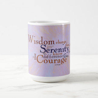 Serenity Prayer Wordle on abstract Classic White Coffee Mug