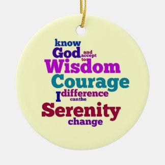Serenity Prayer wordle ornament