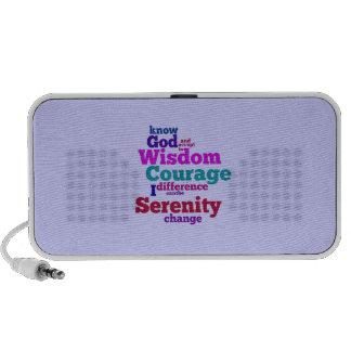 Serenity Prayer wordle Portable Speaker