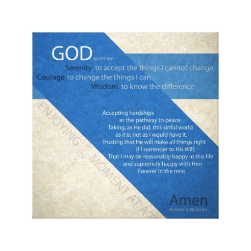 Serenity Prayer Wrapped Canvas Canvas Print