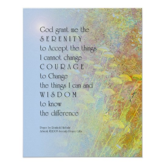 Serenity Prayer Yarrow Print