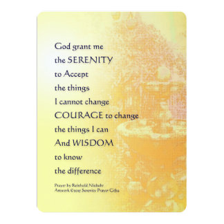 Serenity Prayer Yellow Fountain Card