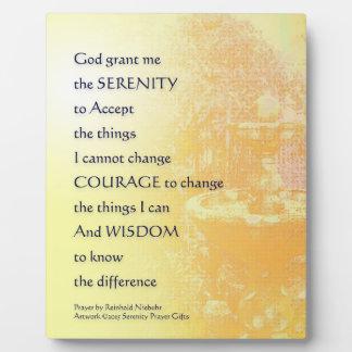 Serenity Prayer Yellow Fountain Plaque