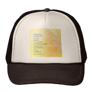 Serenity Prayer Yellow Fountain Trucker Hat