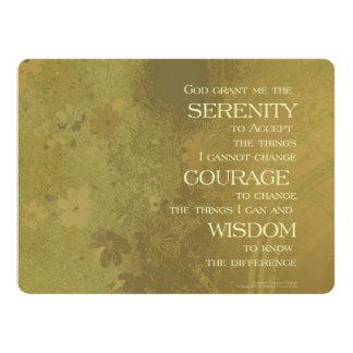 Serenity Prayer Yellow Gold Card