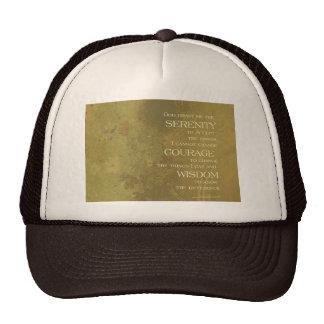 Serenity Prayer Yellow Gold Trucker Hat