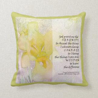 Serenity Prayer Yellow Iris American MoJo Pillow