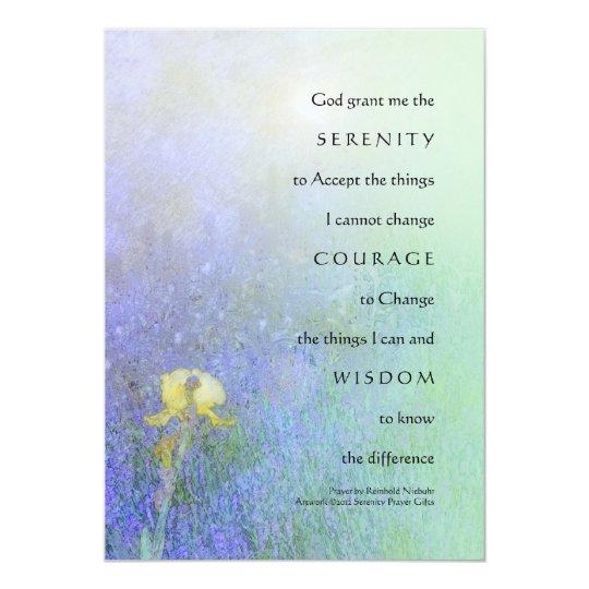 Serenity Prayer Yellow Iris Blend Card