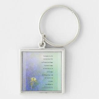 Serenity Prayer Yellow Iris Blend Keychain