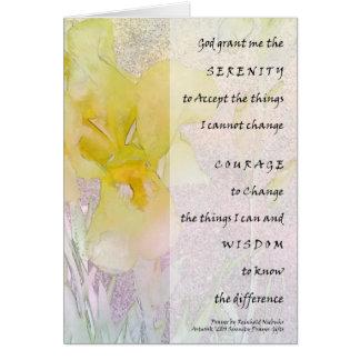 Serenity Prayer Yellow Iris Card
