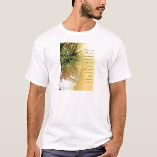 Serenity Prayer Yellow Orange Tree and Pond T-Shirt