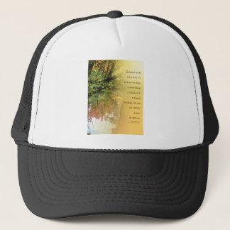 Serenity Prayer Yellow Orange Tree and Pond Trucker Hat