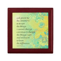 Serenity Prayer Yellow Turquoise Bouquet Gift Box