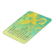Serenity Prayer Yellow Turquoise Bouquet Magnet