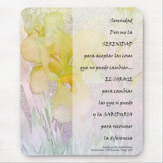 Serenity PrayerYellow Iris in Spanish Mousepad