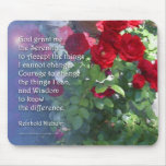 Serenity Red Roses Mousepad