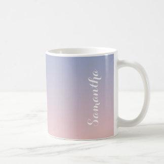 Serenity Rose Quartz Blue Pink Ombre Personalized Coffee Mug