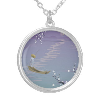 Serenity Round Necklace Silver-tone