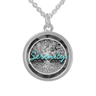 Serenity Round Pendant Necklace