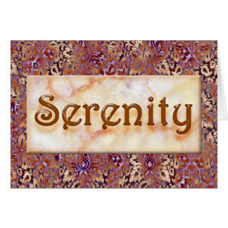 SERENITY Sober Congratulations AA Recovery Card