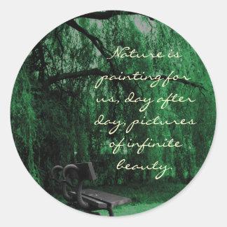 Serenity Round Stickers