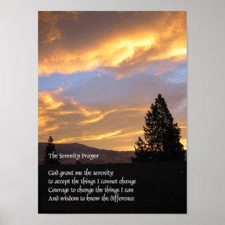 Serenity Sunrise Gold Poster