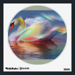 """Serenity Swan Wall Sticker<br><div class=""""desc"""">Graceful swan with rainbow stream-lights trailing at the wings</div>"""