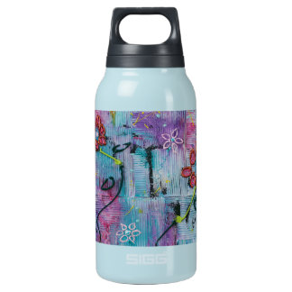 Serenity Textured Floral Art Insulated Water Bottle