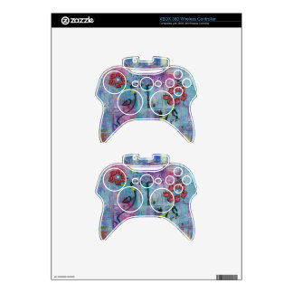 Serenity Textured Floral Art Xbox 360 Controller Decal