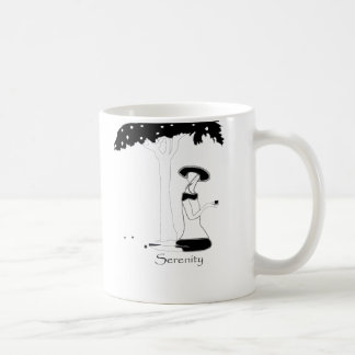 Serenity Tree  Black/White Coffee Mug