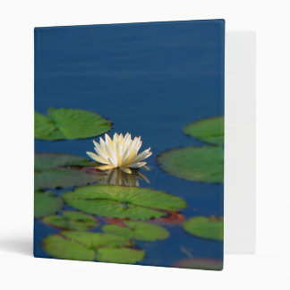 Serenity Water Lily 3 Ring Binder