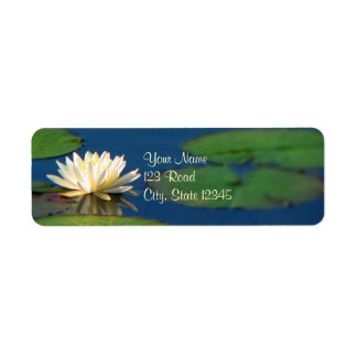 Serenity Water Lily Label