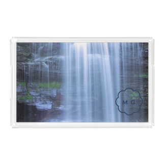 Serenity Waterfall Rectangle Serving Trays