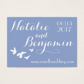 Serenity Wedding   Wedding Website & Date Business Card