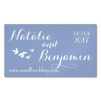 Serenity Wedding   Wedding Website & Date Business Card Magnet