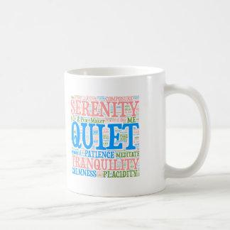 Serenity Word Cloud Coffee Mug