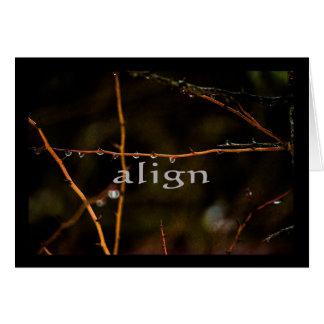 Serenity Word Drops: Align Card