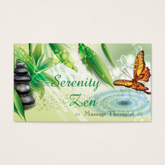 Serenity Zen Therapist Business Card