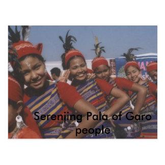 Serenjing Pala de la gente de Garo Postales