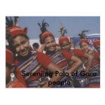 Serenjing Pala de la gente de Garo Tarjetas Postales