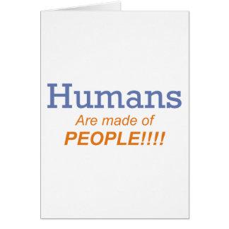Seres humanos/gente tarjeta de felicitación