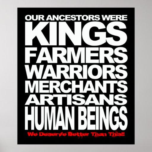 Seres humanos poster